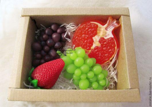 """Мыло ручной работы. Ярмарка Мастеров - ручная работа. Купить Подарочный набор мыла """"Фрукты"""". Handmade. Виноградная гроздь, виноградный"""