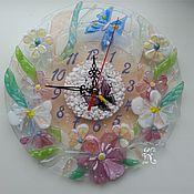 """Для дома и интерьера ручной работы. Ярмарка Мастеров - ручная работа Часы """" Нежность"""". Handmade."""