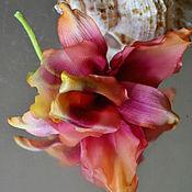 Украшения ручной работы. Ярмарка Мастеров - ручная работа Цветы из шелка Орхидея. Handmade.