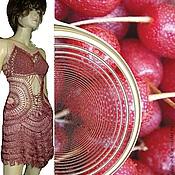 Одежда ручной работы. Ярмарка Мастеров - ручная работа платье Серебристая вишня. Handmade.