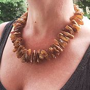 Работы для детей, handmade. Livemaster - original item Medicinal beads made of raw amber natural natural. Handmade.