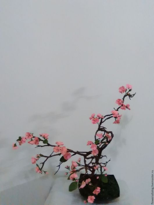 Искусственные растения ручной работы. Ярмарка Мастеров - ручная работа. Купить Сакура из полимерной глины. Handmade. Сакура, цветы