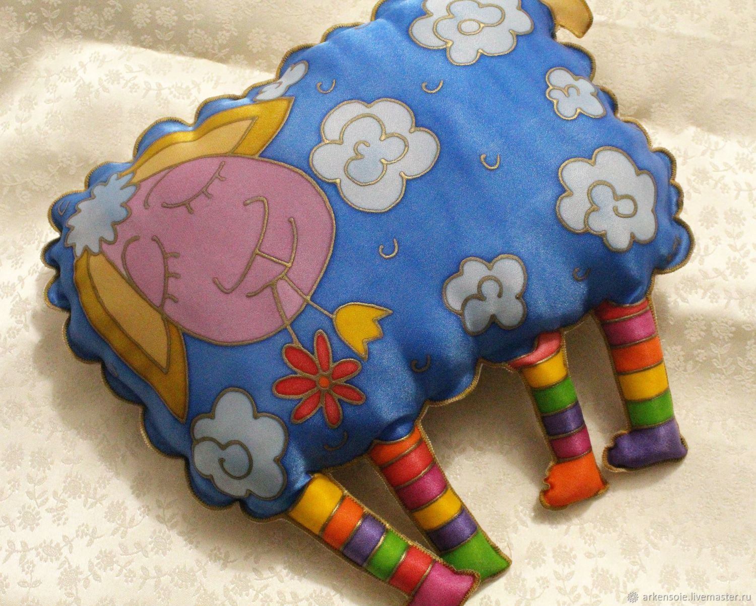 Home Textiles & Carpets handmade. Livemaster - handmade. Buy Aries pillow toy ,hand-painted, 35h34 cm, a gift to the rams.