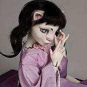 Куклы и игрушки ручной работы. Ярмарка Мастеров - ручная работа Японская кошка, фарфоровая шарнирная кукла. Handmade.