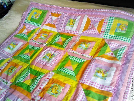 Детская ручной работы. Ярмарка Мастеров - ручная работа. Купить Одеяло для девочки. Handmade. Розовый, хлопок