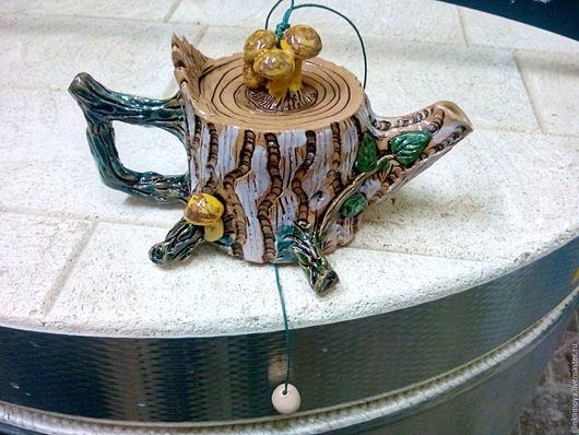 Колокольчики ручной работы. Ярмарка Мастеров - ручная работа. Купить Колокольчик чайник-ПЕНЬ. Handmade. Комбинированный, колокольчик ручной работы