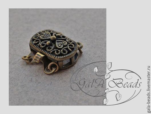 Для украшений ручной работы. Ярмарка Мастеров - ручная работа. Купить Замок - коробочка ( box - 007) Золото, гематит, бронза. Handmade.