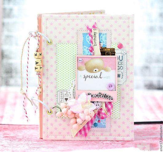 Персональные подарки ручной работы. Ярмарка Мастеров - ручная работа. Купить Дневник молодой мамы для девочки в розовых тонах.. Handmade.