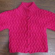 Одежда ручной работы. Ярмарка Мастеров - ручная работа Короткий Розовый жакет.. Handmade.