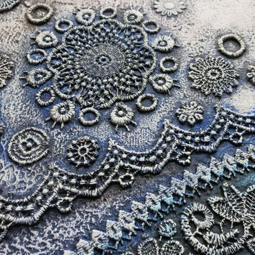 Картины и панно ручной работы. Ярмарка Мастеров - ручная работа Картина кружевная Песчаная коса. Handmade.