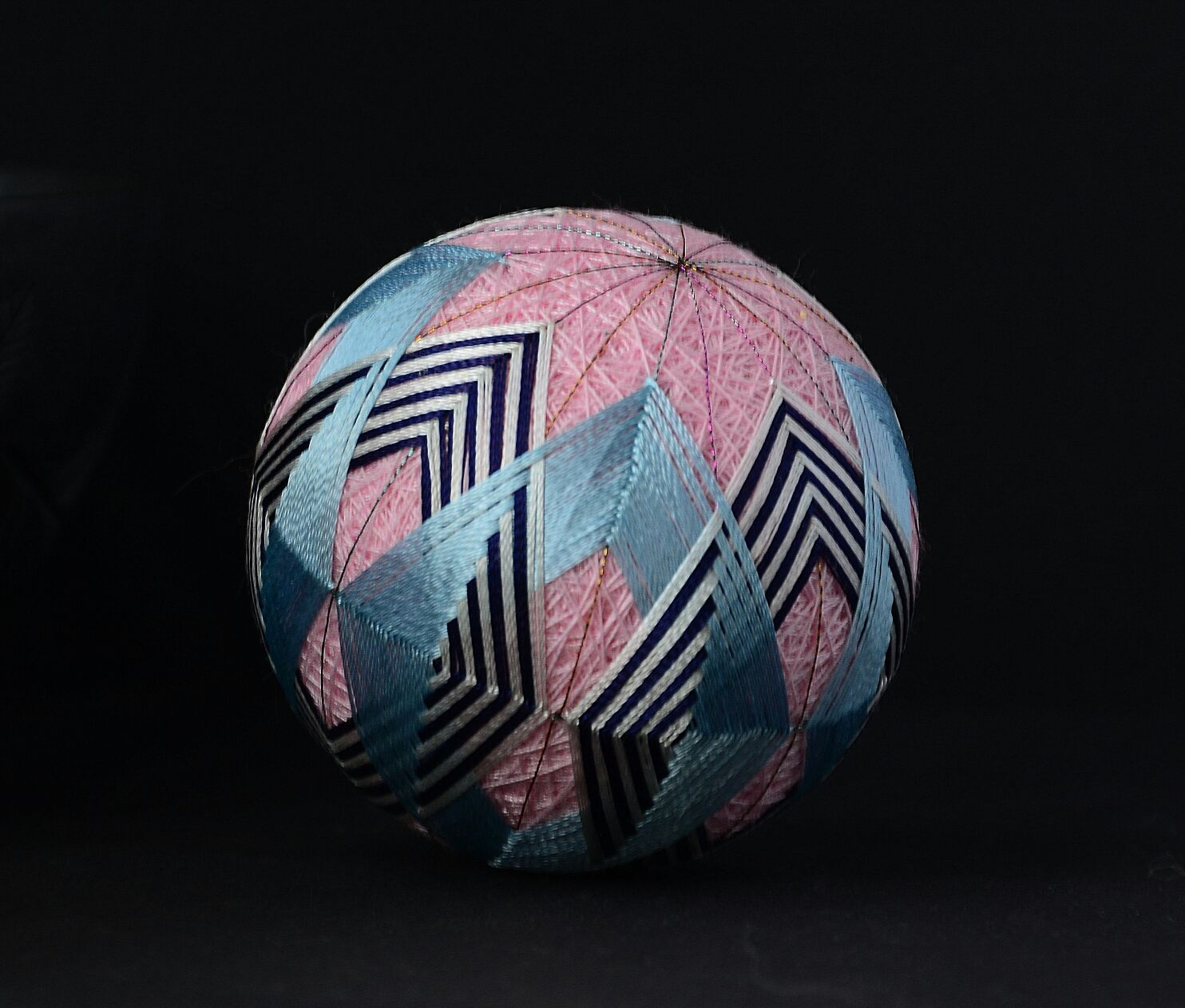Декоративный шар темари. Японская вышивка, Элементы интерьера, Краснодар,  Фото №1