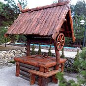 Для дома и интерьера handmade. Livemaster - original item Well decorative for a garden from the massif. Handmade.
