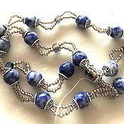 Украшения handmade. Livemaster - original item Jewelry sets: Beads and bracelet made of sadolite and crystals.. Handmade.