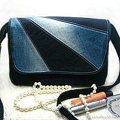 Классическая сумка ручной работы. Ярмарка Мастеров - ручная работа Джинсовая сумка дамская элегантная сумочка на плечо. Handmade.