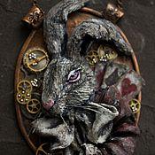 Украшения handmade. Livemaster - original item Copper and polymer clay choker HURRIED RABBIT. Handmade.