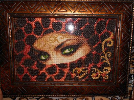 Фэнтези ручной работы. Ярмарка Мастеров - ручная работа. Купить Взгляд восточной женщины (изумруд). Handmade. Разноцветный