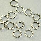 Материалы для творчества handmade. Livemaster - original item Twisted rings are not detachable, silver color, 8 mm. 10 PCs. Handmade.