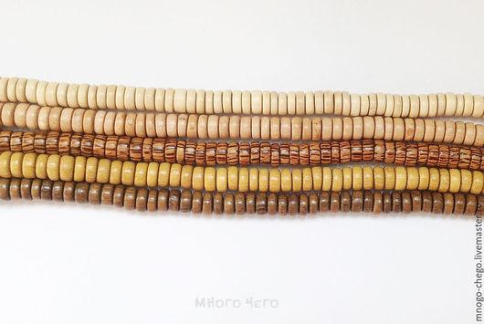 Для украшений ручной работы. Ярмарка Мастеров - ручная работа. Купить Бусины / дерево / шайбы 8х3.5 мм. Handmade.