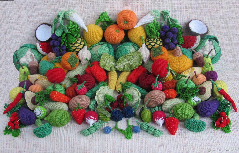 Вязаная еда овощи фрукты сладости развивающая игрушка, Кукольная еда, Майкоп,  Фото №1