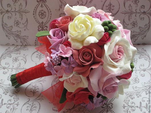 """Букеты ручной работы. Ярмарка Мастеров - ручная работа. Купить Букет """"Цветущий сад"""". Handmade. Свадебный букет, букет в подарок"""