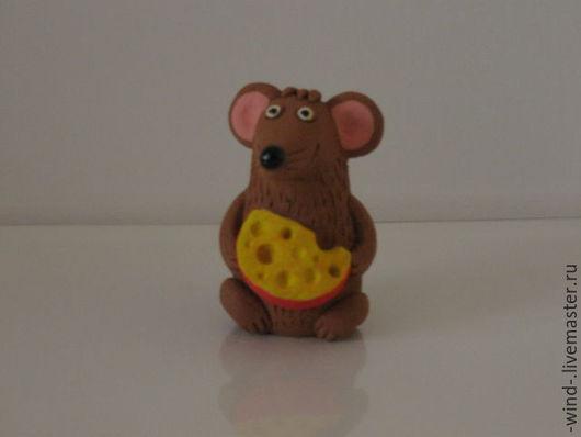 Игрушки животные, ручной работы. Ярмарка Мастеров - ручная работа. Купить Грызун с сыром. Handmade. Мышь игрушка