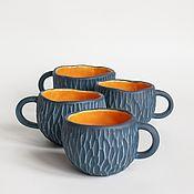 """Посуда ручной работы. Ярмарка Мастеров - ручная работа Чашка """"Замшевая"""". Handmade."""