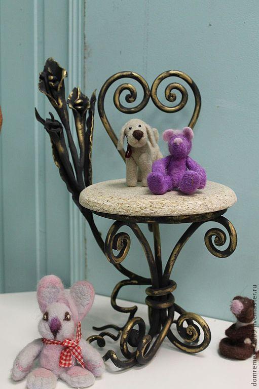Кукольный дом ручной работы. Ярмарка Мастеров - ручная работа. Купить кованый  стул для  куклы. Handmade. Ковка, художественная ковка