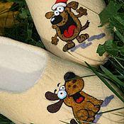 """Обувь ручной работы. Ярмарка Мастеров - ручная работа Тапочки """"ГАВ,гав"""". Handmade."""