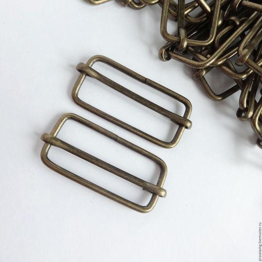 Шлевка 3 см регулировочная металл для сумочной ручки. Регулятор длины сумочного ремня. Цвет антик.