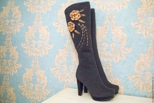"""Обувь ручной работы. Ярмарка Мастеров - ручная работа. Купить Сапоги """"Ксения"""" на узкую ногу. Handmade. Сапоги женские"""