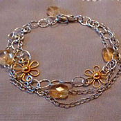 Украшения handmade. Livemaster - original item Bracelet made of 925 silver and natural citrine.. Handmade.