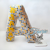 Подарки к праздникам ручной работы. Ярмарка Мастеров - ручная работа Именные буквы-подушки. Handmade.