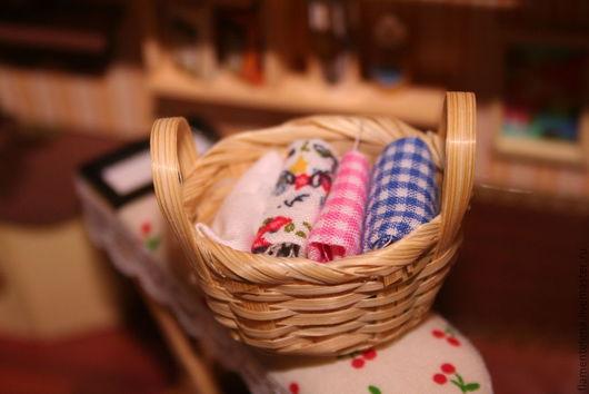 Куклы и игрушки ручной работы. Ярмарка Мастеров - ручная работа. Купить Мини корзинка с швейными пренадлежностями. Handmade. Миниатюра, минимебель
