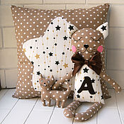 Куклы и игрушки manualidades. Livemaster - hecho a mano El gatito juguete komforter y la almohada con un asterisco. Handmade.