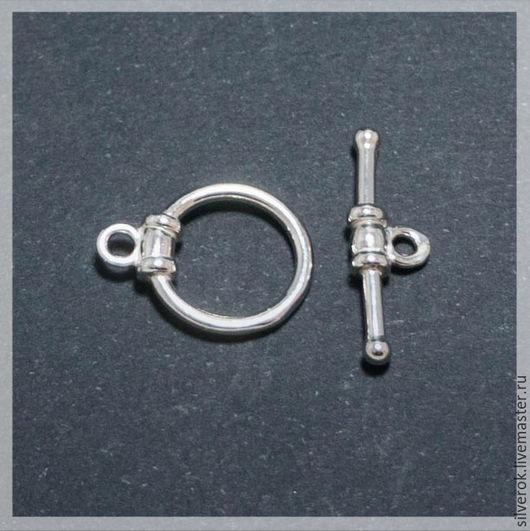 Для украшений ручной работы. Ярмарка Мастеров - ручная работа. Купить Замок для браслета №2 серебряный 925 пробы. Handmade.
