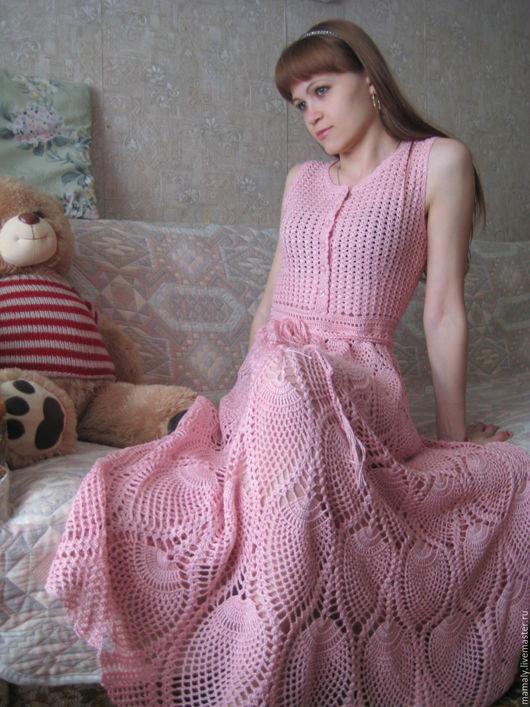 """Платья ручной работы. Ярмарка Мастеров - ручная работа. Купить Платье  """"Грезы"""". Handmade. Бледно-розовый, платье крючком"""