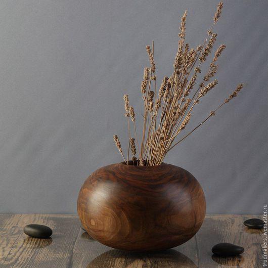 Вазы ручной работы. Ярмарка Мастеров - ручная работа. Купить Деревянная ваза из ореха. Handmade. Деревянная ваза, цветы, подарок