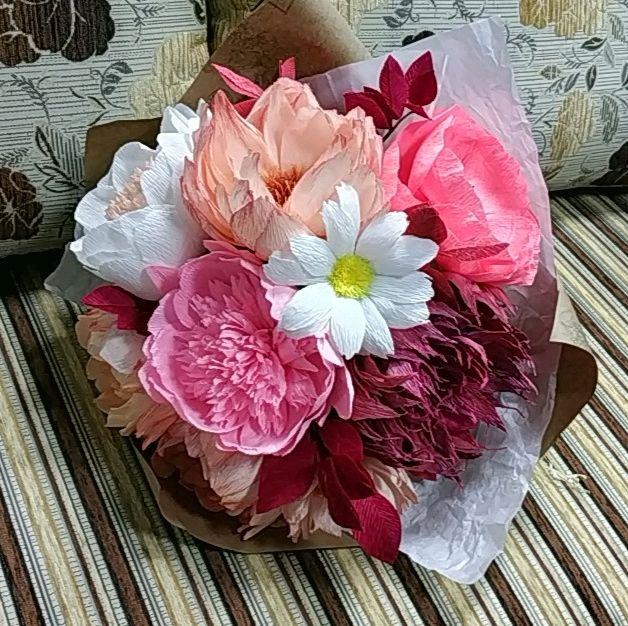 букет из бумажных цветов, Цветы, Горно-Алтайск,  Фото №1