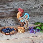 Русский стиль ручной работы. Ярмарка Мастеров - ручная работа Фигурка из дерева Петушок с нарядным хвостом. Handmade.