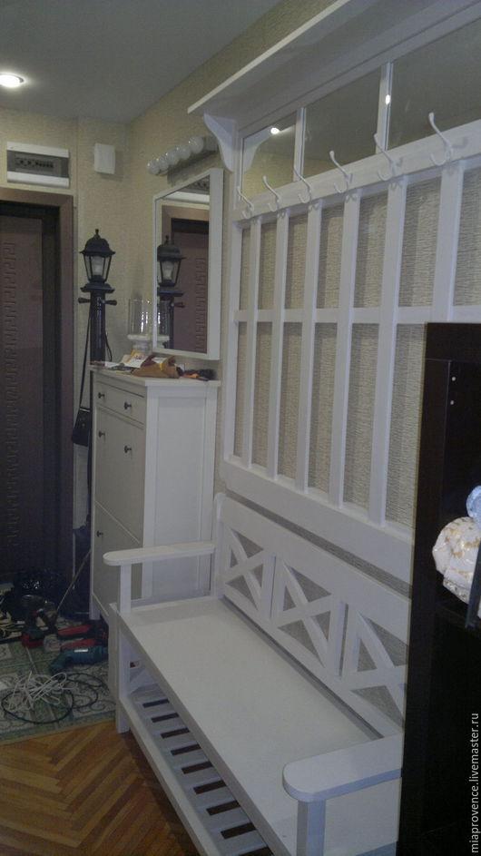 Мебель ручной работы. Ярмарка Мастеров - ручная работа. Купить Мебель для прихожей (Комплект №12). Handmade. Белый, скамья, miaprovence