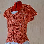 Одежда ручной работы. Ярмарка Мастеров - ручная работа Жилет из мотивов с пелериной. Handmade.