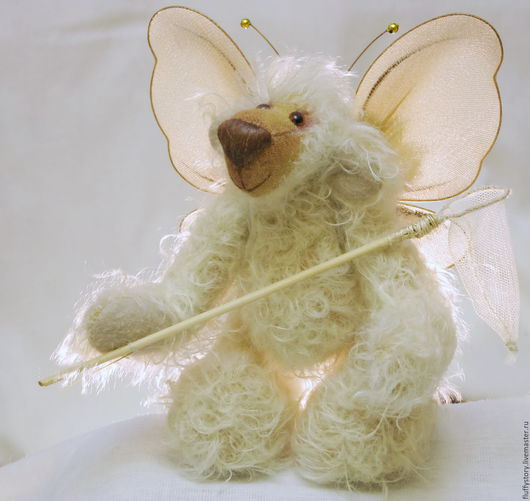 Мишки Тедди ручной работы. Ярмарка Мастеров - ручная работа. Купить Мишка-тедди почти бабочка. Handmade. Бежевый