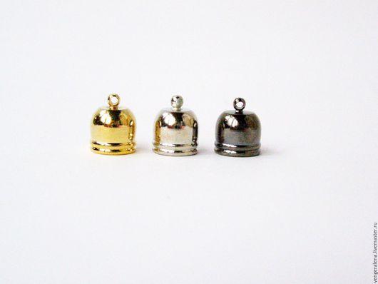 Для украшений ручной работы. Ярмарка Мастеров - ручная работа. Купить Колпачки Б15 для жгутов, концевики 12 мм. Handmade.