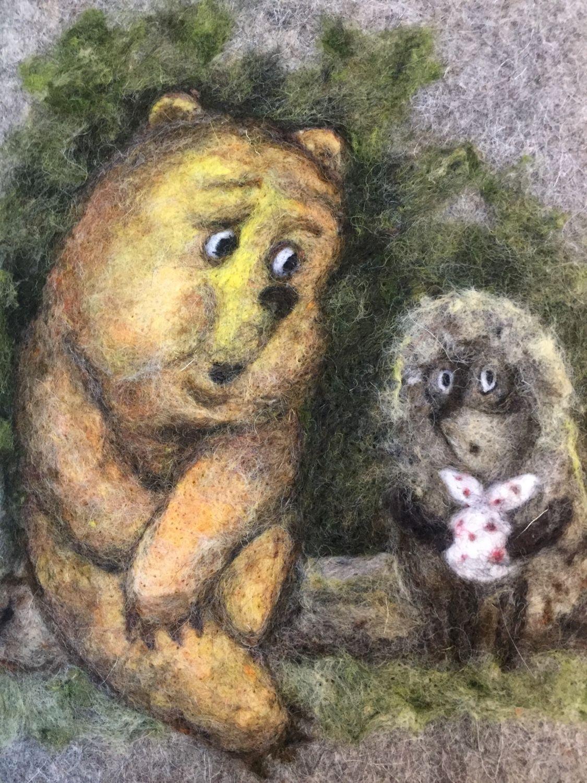 Картинки медвежонок и ежик, тексты для поздравления