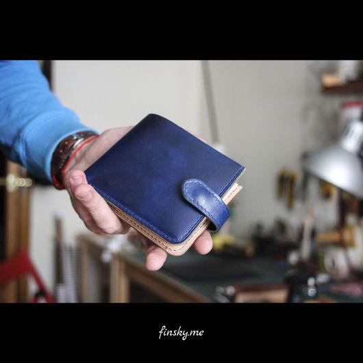 Кошельки и визитницы ручной работы. Ярмарка Мастеров - ручная работа. Купить Длинный кожаный кошелек - Кожаный мужской кошелек. Handmade.