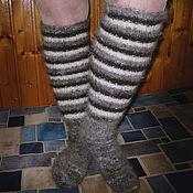 Аксессуары handmade. Livemaster - original item Women`s knitted knee socks. Handmade.