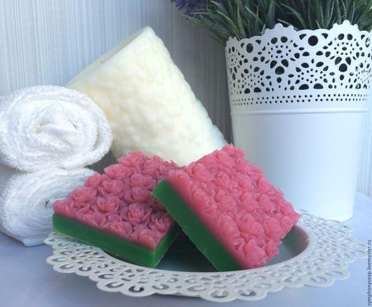 """Мыло ручной работы. Ярмарка Мастеров - ручная работа. Купить Мыло ручной работы """"Кустовая роза"""" брусок. Handmade. Розовый"""