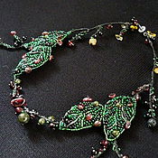 Украшения handmade. Livemaster - original item necklace berry with natural stone. Handmade.