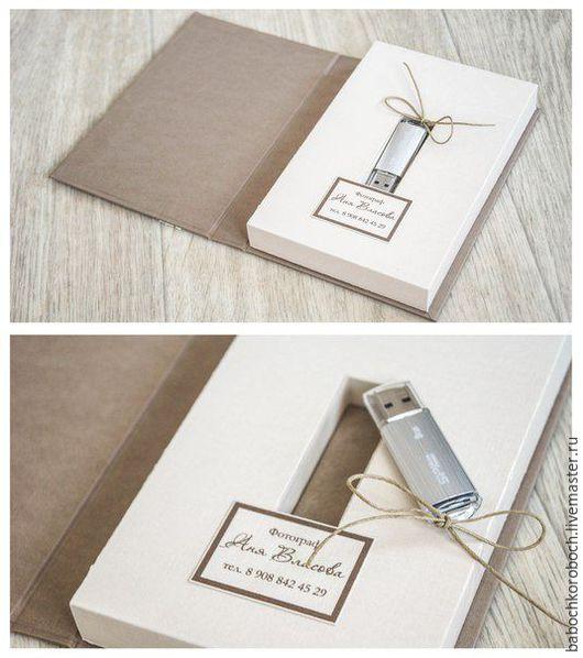 Подарочная упаковка ручной работы. Ярмарка Мастеров - ручная работа. Купить коробочка для флешки. Handmade. Комбинированный, футляр для флешки