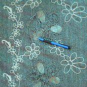 Материалы для творчества ручной работы. Ярмарка Мастеров - ручная работа Ткань костюмная Серая с вышивкой. Handmade.
